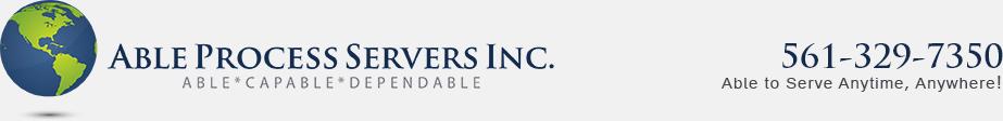 Able Process Servers, Inc.